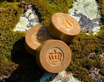 Honey Blossom Triple Butter Handmade Soap with Turmeric and Powdered Oats