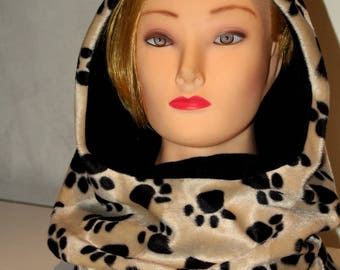 Hood scarf hooded scarf Snood scarf Shawl-hood-Scarf-Skat-Scoodie-gift for her-gift for him