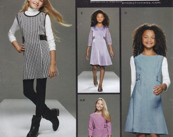 FREE US SHIP Simplicity 8026 Project Runway Sewing Pattern Girls Dress High Waist Dress Size 8 10 12 14 16 New uncut