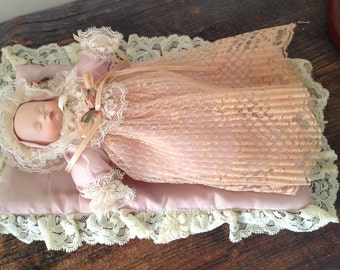 Antique Baby Doll With Blanket