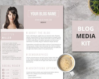Blog Media Kit for Word - The Big Shot, One Page Press Kit Template | Instant Download
