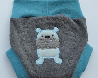 Bulldog Recycled Wool Soaker Cloth Diaper Nappy Cover Medium