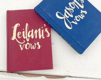 Wedding Vows Pocket Paper Notebook, Set of 2 Small Books