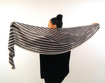 INCEPTIO Knitting Pattern PDF Fingering Weight Shawl