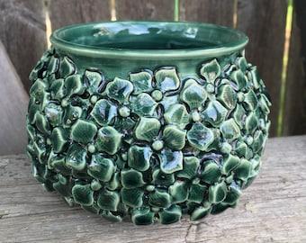 Small Jade Green Hydrangea Vase