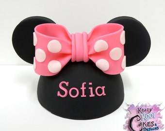 Minnie Mouse Hat Cake Topper