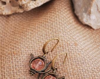 Teapot boho earrings,  tea earrings, alice in wonderland,  tea party, teapot jewelry, tea pot earrings, dangle earrings
