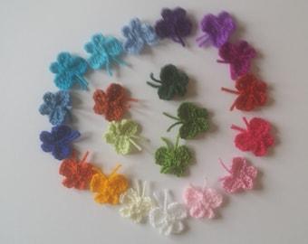 10 Handmade crochet butterfly applique