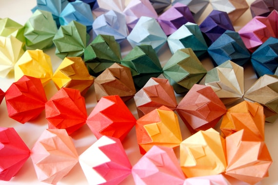 Colour Spectrum Origami Diamond Garland