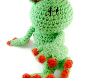 Handmade Crochet Amigurumi Tree Frog Stuffed Animal Frog Plush Toy Pet