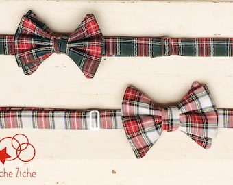 Man bow tie, red bow tie, green bow tie, wool bow tie, tartan bow tie, vintage bow tie, father gift, country bow tie