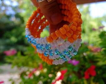 Big bracelet with czech beads