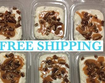 Free Shipping, White Chocolate Caramel Pecan Fudge, Creamy Fudge