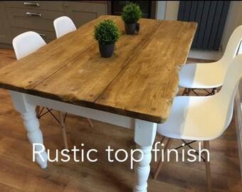 Farmhouse, rustic table