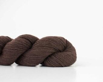 SALE Shibui Cima Grounds; dark brown merino and alpaca luxury yarn