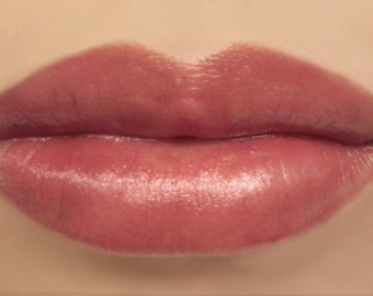 "Vegan Mineral Lipstick - ""Nymph"" sheer burgundy rose red lip tint - all natural makeup"