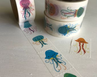 Perforated Jellyfish Washi Roll