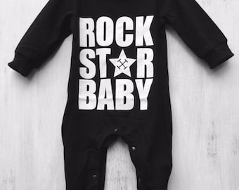 Rock star baby Romper/Outfit
