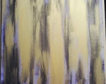 Gold acrylic contemporary painting
