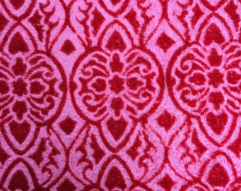 French Fabric, French Terrycloth, Hearts and Victorian Design, Valentine's, Heavier