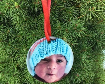 Personalized Ceramic Christmas Ornament, Xmas ornament