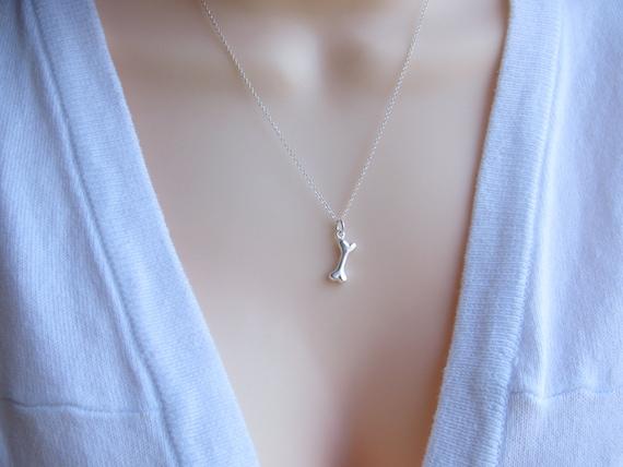 Sterling silver dog bone necklace sterling silver bone like this item aloadofball Images