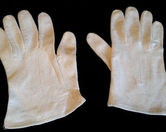 Gloves White Chamois Vintage