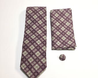 Purple and Tan Plaid Gift Pack