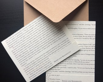 Jane Austen Sense and Sensibility Blank Notecards (Set of 8)