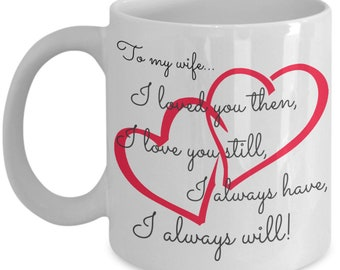 Love you wife mug, anniversary mug