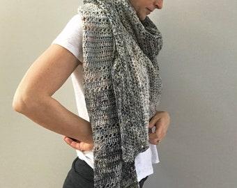 Merino Wool Triangle Wrap : fade shawl | scarf | hand dyed yarn | handmade | natural fibers | navy fade |  Mothers Day | Ready to ship