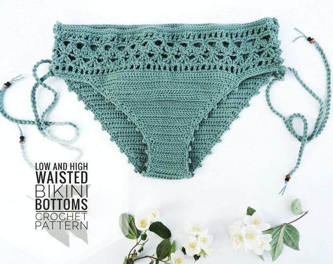 Featured listing image: Crochet Pattern Here Comes the Sun Bikini Bottoms