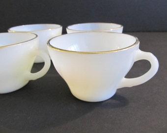 Fire King Coffee Cups, Anchor Hocking Coffee Cups, Vintage Fire King, Vintage Fire King Dishes, Vintage Dishes, Dishes, Glass Dishes, Glass