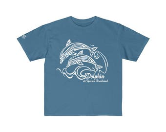 Youth Retail Fit Tee Dolphin White Print