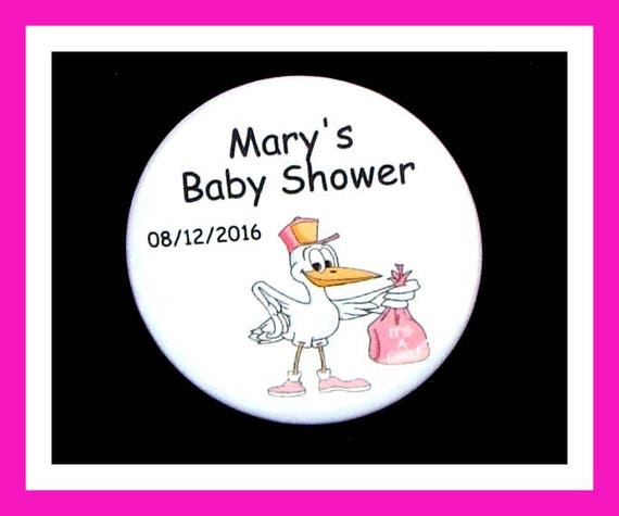 Baby Shower ITS A GIRL Favors,Personalized Buttons,Favor Tags,Its a girl,Party Favors,Birthday Party Favors,Personalized Favors,Set of 10