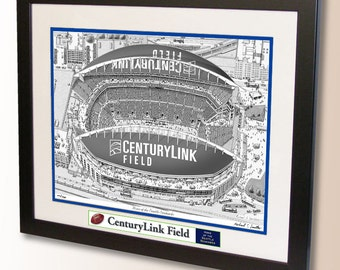 CenturyLink Field Art, home of the Seattle Seahawks