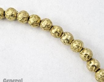 6mm Bright Gold Rose Bead #MPC015