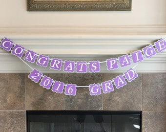 Personalized Graduation Banner - Class of 2018 Decor - Banner in Custom School Colors- Graduation Party Decorations