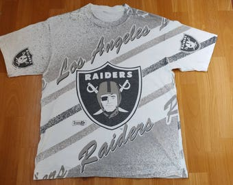 Los Angeles RAIDERS jersey, officially licensed NFL t-shirt, Logo 7, vintage NWA shirt Oakland Raiders of 90s hip-hop clothing size M Medium