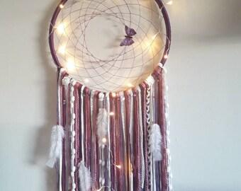 dreamcatcher/ dream catcher/ dreamcatchers/ big dreamcatcher/ purple dreamcatcher/ hippie decor/ wall hanging/ dream catchers/ large dreams