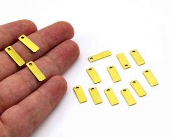 60 pcs 0.80x5x15 mm Raw Brass Rectangle Stamping Blank, Pendant, Rectangle Bar, Necklace Finding, Earring Findings ( 20 Gauge )