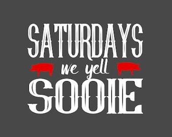 Saturdays We Yell Sooie Arkansas Razorback Shirt