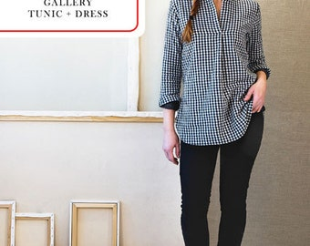 Liesl & Co PATTERN - Gallery Dress + Tunic - Sizes 0-20