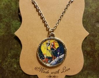 Custom Handmade Nightmare Before Christmas Inspired Necklace