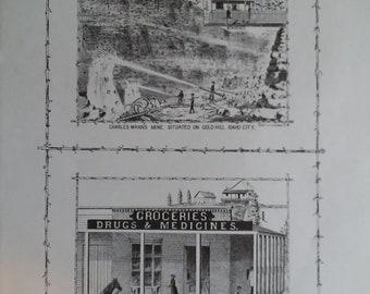 Charles Mann's mine. 1884 Lithograph
