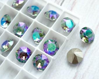 2pcs~, Paradise Shine, 39ss 8mm Swarovski Crystal Chaton Stone 1088