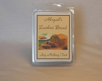 Zucchini Bread Handmade Natural Soy Melting Tart by Abigail's on Main