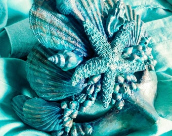 Mermaid Mask Costume Prom Decor Underwater Ocean Sea Pirate Siren Cosplay Art Masquerade Seashell Mask Ship Party OOAK photoshoot
