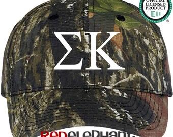 Sigma Kappa Hat, Monogrammed Camo Hat, Monogram Baseball Cap, Monogram Camouflage Hat, Personalized Baseball Hat, Sorority Gift, Sigma Cap