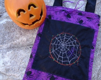 Deluxe Embroidered Trick or Treat Totebag for Halloween